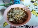 Nudelsuppe mit Mett und Fleischbällchen (würzig)