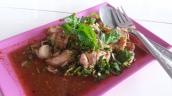 Jungle Curry mit Huhn (grüner Pfeffer, sehr scharf)