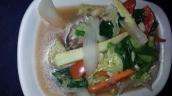 Gemüse gedünstet mit viel Knoblauch (schön würzig)