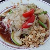 Pomelosalat, frisch und schön scharf
