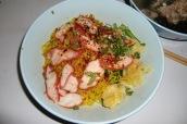 Gelbe Nudeln mit Schweinefleisch (yummy)