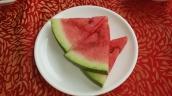 Wassermelone gibt es immer zum Nachtisch gratis dzu