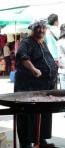 Chatuchak Weekend Markt, auch ein echter Spanier mit Paella darf nicht fehlen (sehr lecker und unterhaltsam)