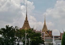 Blick auf Wat Phra Kaeo (Tempel des Smaragd-Buddha)