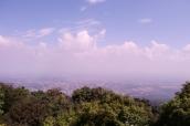 Schöne Aussicht über die Stadt Chiang Mai, leider etwas diesig