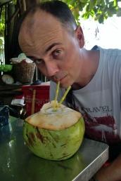 Frische Kokosnuss (sehr erfrischend)