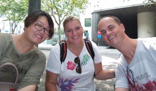 Pauline und wir gemeinsam beim Lunch