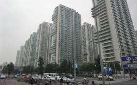 Unser Apartmentkomplex, typisch für Shanghai