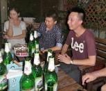 Später am Abend wurde gesunden. Das leckere Bier half dabei.