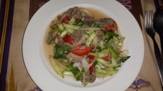 Thai Rindfleischsalat schön scharf