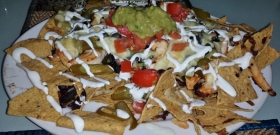 Mexikaner in Patong Beach: riesige Portion Nachos