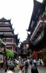 Yuyuan-Garten; der restaurierte Teil ist das eigentliche alte Shanghai.