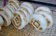 Süße Teigfladen mit chinesischem Stempel. Sehr lecker.