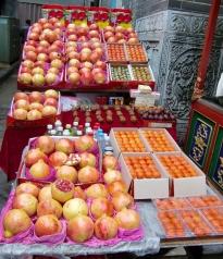 Granatapfel und deren Saft gibt es überall zu kaufen.