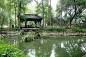 Der weitläufige Wenshu Yuan Klostergarten.