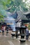 Der Innenhof des Qingyang Taoist Temple.