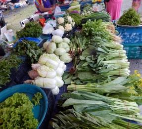 Ein bisschen Gemüse haben wir dann doch auf dem Markt gefunden