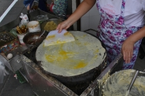 Auch der chinesische Crepe schmeckt sehr lecker.