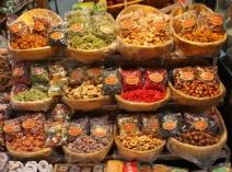 getrocknete Früchte und Nüsse