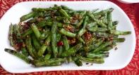 Grüne Bohnen mit Chili schmecken immer.