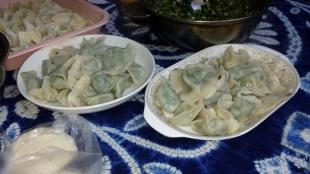 Selbstgemachte Wonton und Dumpling, in Helen`s Home