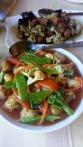Schweinefleisch süß sauer mit Gemüse