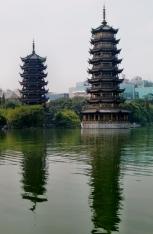 Die Sun & Moon Twin Pagodas sind schön anzuschauen