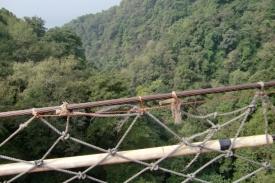 Der Blick von der Brücke.