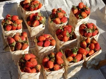 Erdbeeren hatten Saison.