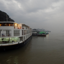 Nebel und Regen am Morgen in Mandalay.