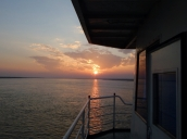 Bei Ankunft in Bagan hatten wir dann einen schönen Sonnenuntergang.