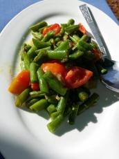 Bohnengemüse mit Tomaten