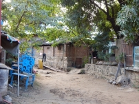 Eine Straße in der nähe unsere Unterkunft in Nyaung U.