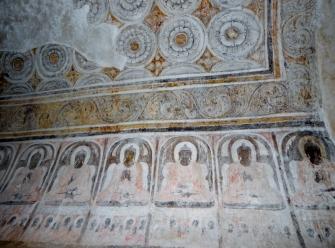 Zum Teil sind die Wandmalereien noch gut erhalten oder auch sorgfältig restauriert.