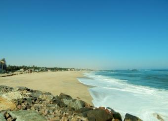 Angekommen am Swakopmund Beach.