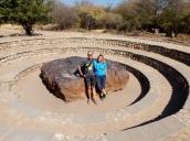 Der Hoba Meteroid aus 82% Eisen in der Nähe von Grootfontein.