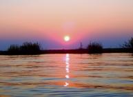 Immer wieder tolle Farben zum Sonnenuntergang.