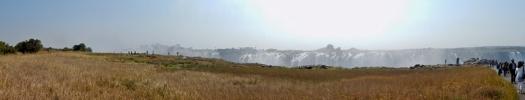 Ein Panorama Foto der Vic. Falls.