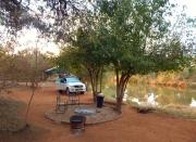 Wunderschön gelegen der Zeltplatz im Tulli Block im Osten von Botswana.