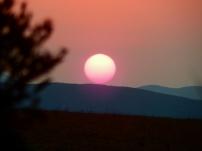Wieder einmal geht die Sonne rot unter. Hier in Swaziland.