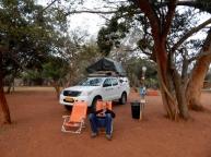 Auch in Südafrika sind die Campingplätze riesig.