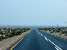 Auf dem Weg zur Grenze nach Namibia zurück.