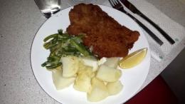 Auch ich kann Schnitzel. Aber nicht mit Pommes, sondern mit leckeren Kartoffeln.