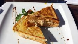 Sandwich mit Hähnchenmayonnaise. Auch ein Klassiker.