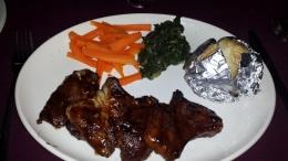 Fleisch hier Kudu. So gut.