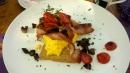 Das letzte gute Frühstück mit viel Speck.