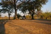 Typischer Zeltplatz - man hat viel Platz im Okawango Delta. Hier Xakanaxa.